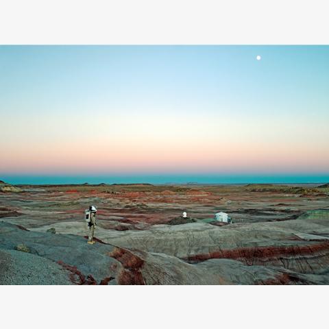 ヴァンサン・フルニエ 《火星砂漠研究基地 #11、火星協会、サン・ラファエル・スウェル、ユタ州、アメリカ、2008年》 2008年/Cプリント/60×80cm/作家蔵